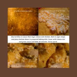 Chicken enchiladas at a glance