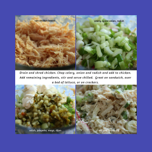 Dilly Chicken Salad at a glance.