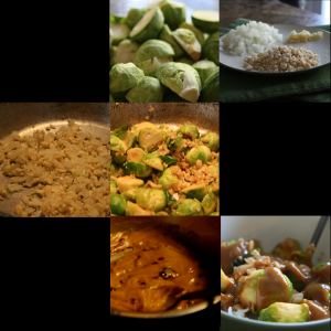 Brussels Sprouts with Peanut Sauce at a glance.