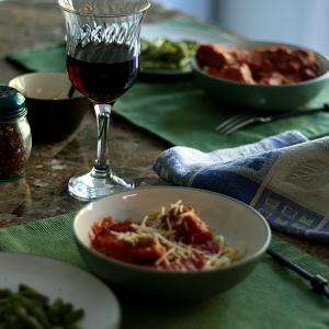 Italian meat sauce, served
